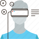 cyberspace, gaming, headset, personal, reality, technology, video, virtual icon