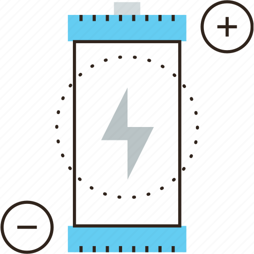 accumulator, battery, efficiency, electrical, electricity, energy, power icon
