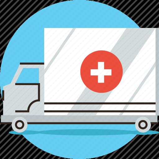Ambulance, car, emergency, hospital, medical, truck, urgency icon - Download on Iconfinder