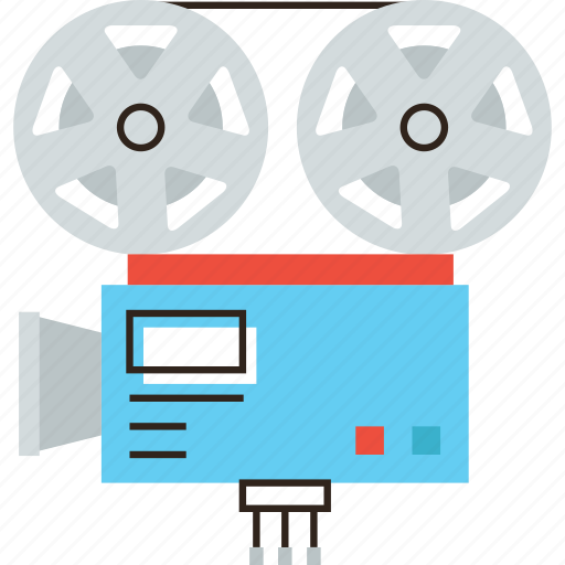 broadcast, camera, cinematograph, film, movie, studio, tv, video icon