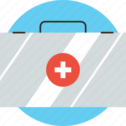 aid, bag, box, doctor, first, kit, medical, medkit, travel icon