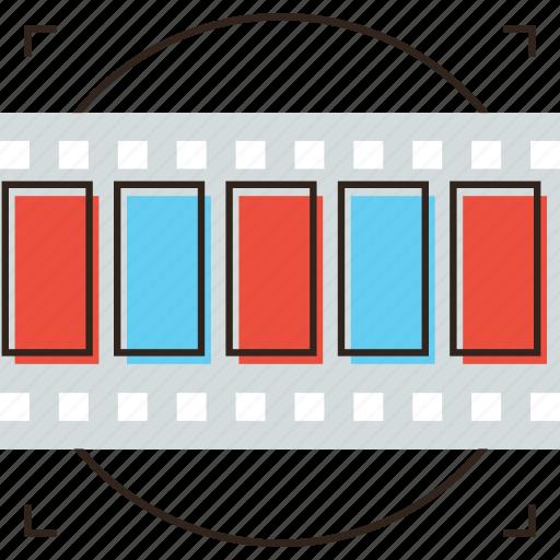 cinema, edit, frames, montage, movie, strip icon