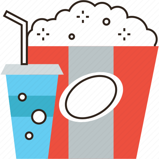 Box, cinema, coke, drink, fastfood, food, popcorn icon - Download on Iconfinder