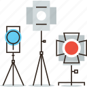 flash, light, photo, photography, spotlight, studio, tripod, video icon