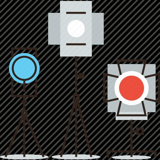 Flash, light, photo, photography, spotlight, studio, tripod icon - Download on Iconfinder