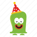 character, creature, monster cartoon, party icon
