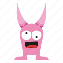 character, creature, horn, monster cartoon icon