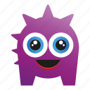 character, creature, cute monster, monster cartoon icon
