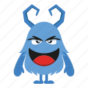 cartoon, cute, halloween, horn, monster icon