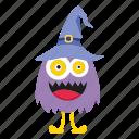 cartoon, cute, halloween, monster, owl icon