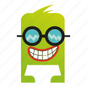 cartoon, cute, monster icon