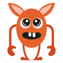 cartoon, creature, cute, monster icon