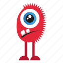 character, funny, halloween, monster cartoon icon