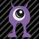 character, halloween, horn, monster cartoon icon