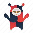 character, clown, fool, joker, mascot, monster icon