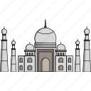 india, mahal, monument, taj, taj mahal, wonders, worlds wonders icon