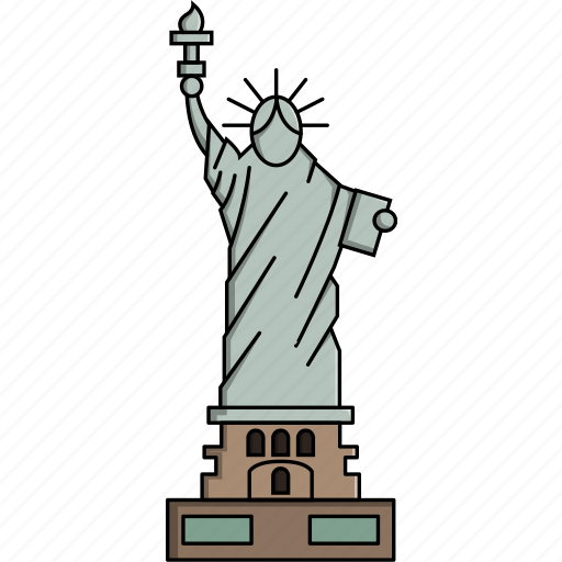 america, liberty, monument, statue of liberty, united states, usa, wonders icon
