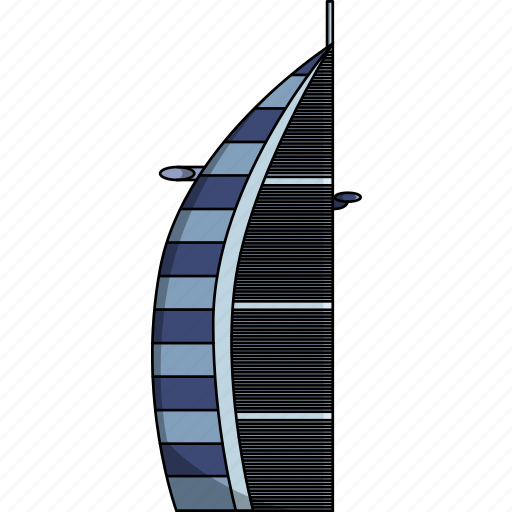 burj al arab jumeirah, dubai, dubai hotel, hotel, hotel in dubai, monument icon