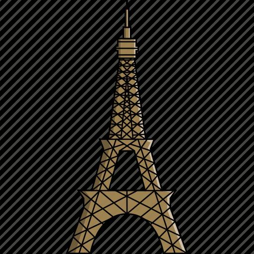 eiffel, eiffel tower, france, monument, paris, tower, wonders icon