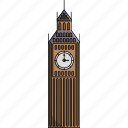 clock, clock tower, london, monument, tower, uk, united kingdom icon