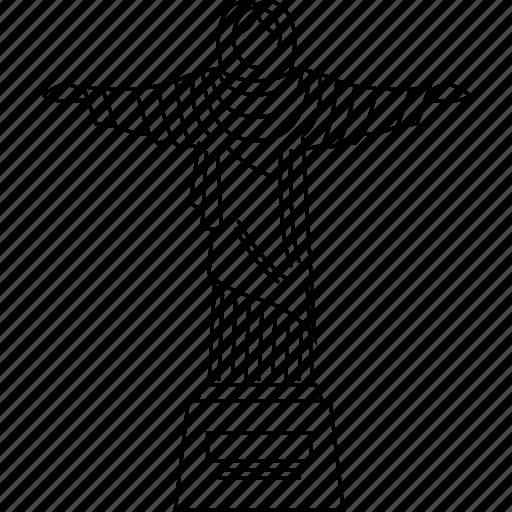 brazil, jesus, monument, redeemed, rio, saviour, wonders icon