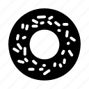 donut, food, junk, sweet, breakfast icon