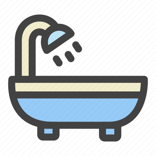 Bathing, morning, shower, bathroom, water, bathtup icon - Download on Iconfinder