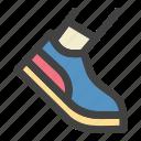 jogging, morning, run, running, shoe icon