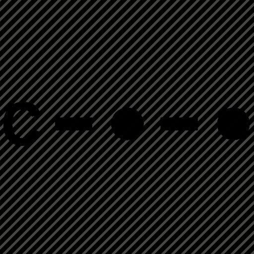 alphabet, c, letter, morse icon