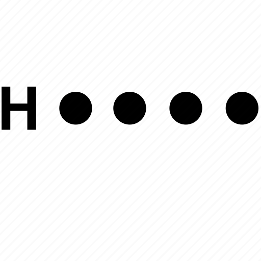 alphabet, h, letter, morse icon