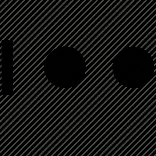 alphabel, i, letter, morse icon