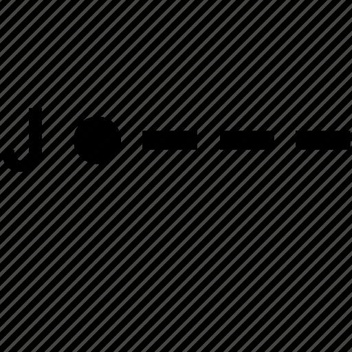 alphabet, j, letter, morse icon