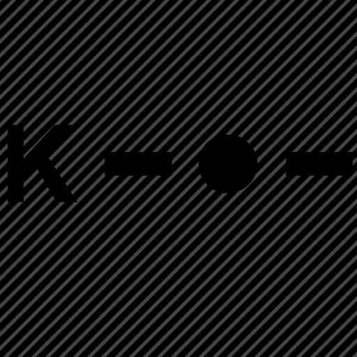 alphabet, k, letter, morse icon