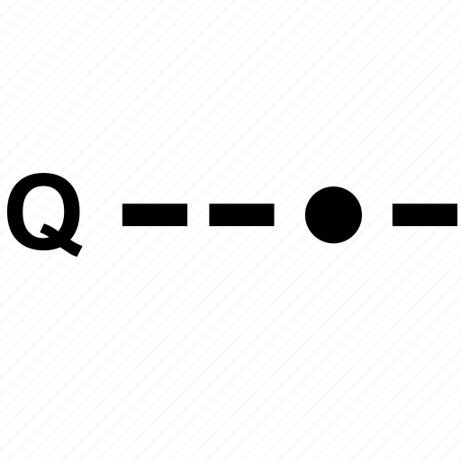 alphabet, letter, morse, q icon