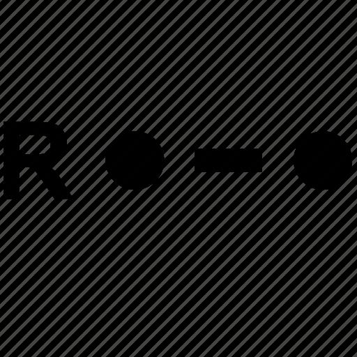 alphabet, letter, morse, r icon