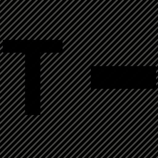 alphabet, letter, morse, t icon