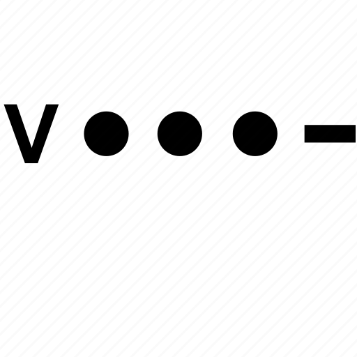 alphabet, letter, morse, v icon