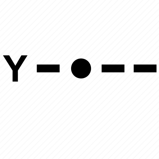 alphabet, letter, morse, y icon