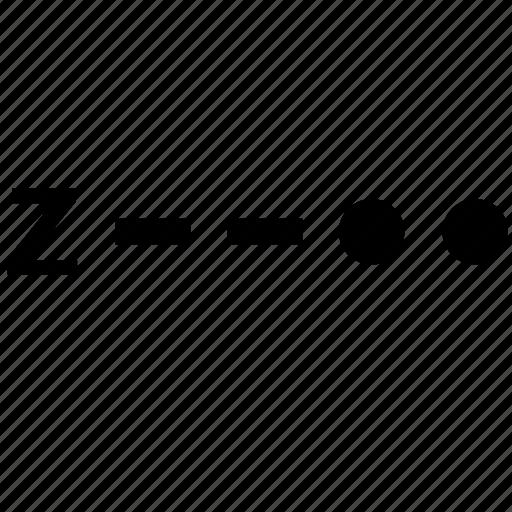 alphabet, letter, morse, z icon
