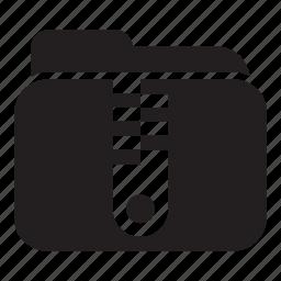 compact, files, folder, zip icon