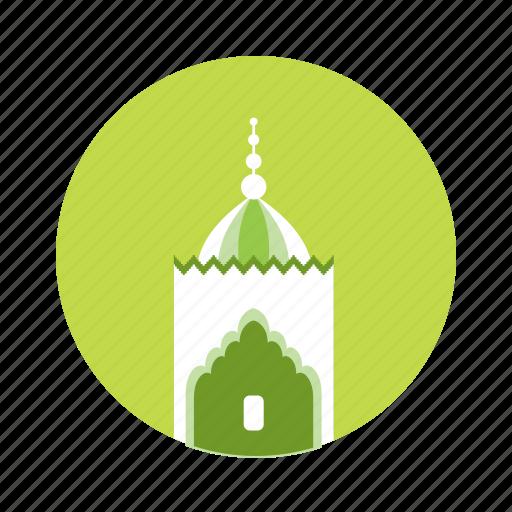 green, mosque, silo icon