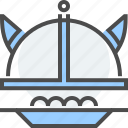 cuisine, culture, food, kitchen, meatball, swedish, viking helmet icon