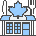 canadian, cuisine, culture, food, kitchen, leaf, restaurant icon