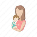 cartoon, child, family, happy, love, mother, parent icon
