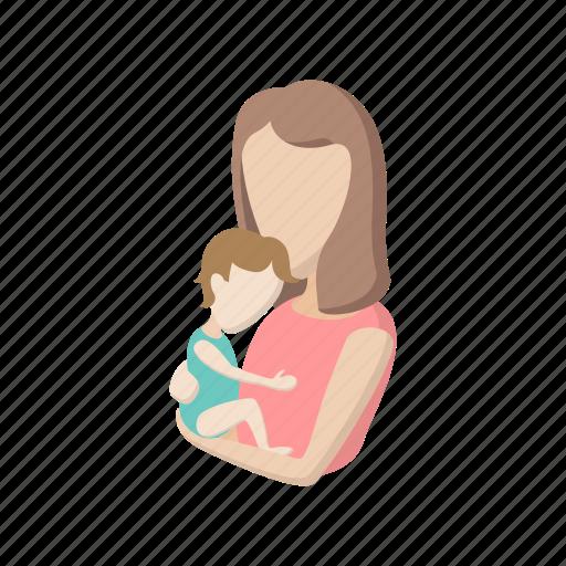 cartoon, child, family, happy, love, mother, parent icon