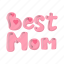 bunting, cartoon, day, heart, letter, mom, party icon