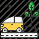 eco car, electric car, environment, green car, green energy, renewable energy icon