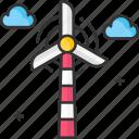 energy, green energy, turbine, wind, wind energy, windmill icon