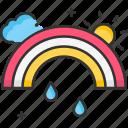 climate, nature, rainbow icon