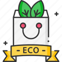 eco bag, ecologic, green earth, recycle, recycled, shopping bag icon